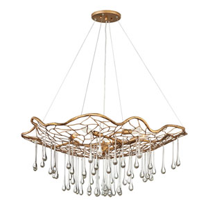 Laguna Burnished Gold Six-Light Chandelier