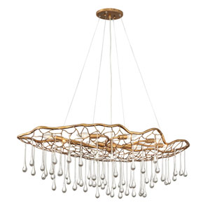 Laguna Burnished Gold Eight-Light Chandelier