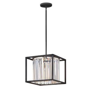 Giada Black One-Light Convertible Pendant