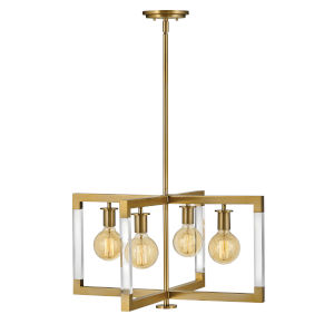 Kellen Lacquered Brass 24-Inch Four-Light Pendant