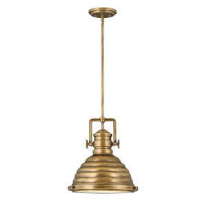 Keating Heritage Brass One-Light Pendant