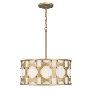 Carter Burnished Gold Five-Light Chandelier