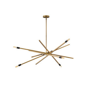 Archer Heritage Brass Six-Light Chandelier