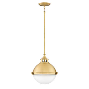 Fletcher Satin Brass 14-Inch Two-Light Pendant