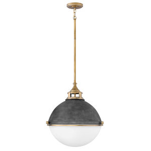 Fletcher Aged Zinc Two-Light Pendant