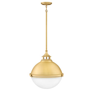 Fletcher Satin Brass 18-Inch Two-Light Pendant