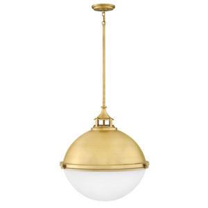 Fletcher Satin Brass 22-Inch Two-Light Pendant