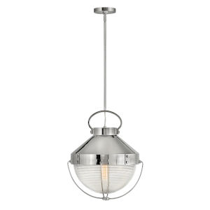 Crew Polished Nickel 16-Inch One-Light Pendant