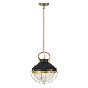 Crew Heritage Brass 12-Inch One-Light Pendant