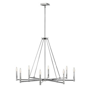 Buchanan Polished Nickel Eight-Light Chandelier