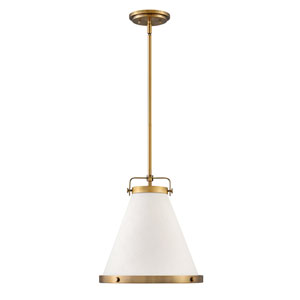Lark Lacquered Brass 13-Inch One-Light Pendant