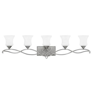 Brooke Antique Nickel Five-Light Bath Vanity