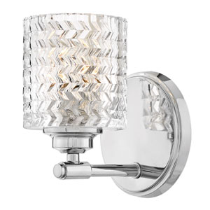 Elle Chrome Eight-Light Bath Sconce