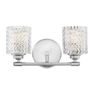 Elle Chrome Two-Light Bath Vanity