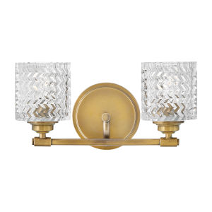 Elle Heritage Brass Two-Light Bath Vanity