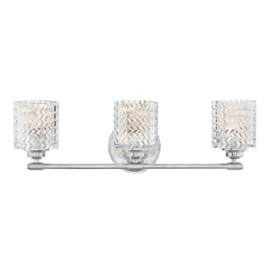 Elle Chrome Three-Light Bath Vanity