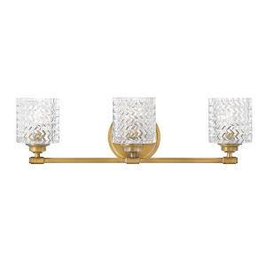Elle Heritage Brass Three-Light Bath Vanity