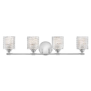 Elle Chrome Four-Light Bath Vanity