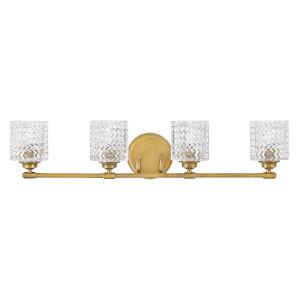Elle Heritage Brass Four-Light Bath Vanity