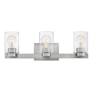 Miley Brushed Nickel Three-Light Bath Vanity