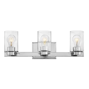 Miley Chrome Three-Light Bath Vanity