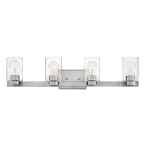 Miley Brushed Nickel Four-Light Bath Vanity