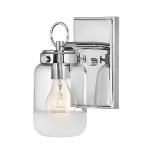 Penley Polished Nickel One-Light Bath Vanity