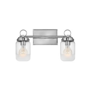Penley Polished Nickel Two-Light Bath Vanity