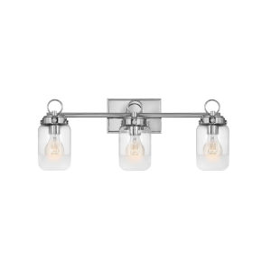Penley Polished Nickel Three-Light Bath Vanity