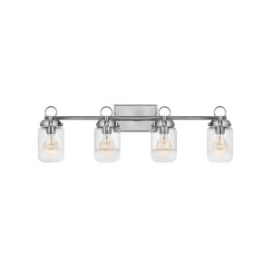 Penley Polished Nickel Four-Light Bath Vanity