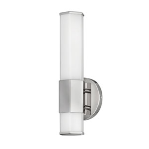 Facet Polished Nickel Five-Inch LED ADA Bath Sconce