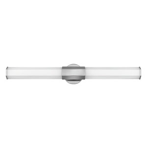 Facet Polished Nickel 32-Inch LED ADA Bath Sconce