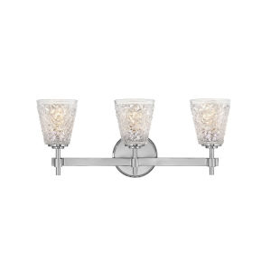 Amabelle Chrome Three-Light Bath Vanity