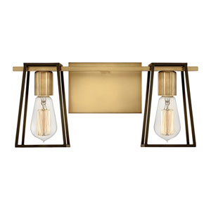 Filmore Heritage Brass Two-Light Bath Vanity