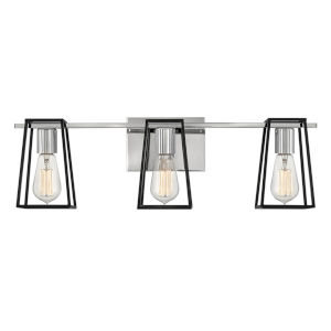 Filmore Chrome Three-Light Bath Vanity