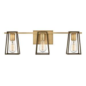 Filmore Heritage Brass Three-Light Bath Vanity
