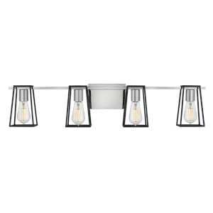 Filmore Chrome Four-Light Bath Vanity