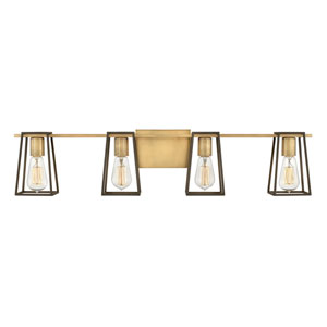 Filmore Heritage Brass Four-Light Bath Vanity