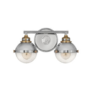 Fletcher Polished Nickel Two-Light Bath Vanity
