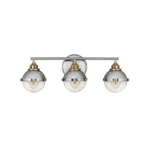 Fletcher Polished Nickel Three-Light Bath Vanity