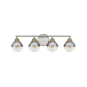 Fletcher Polished Nickel Four-Light Bath Vanity