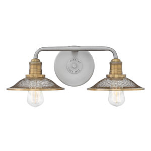 Rigby Antique Nickel Two-Light Bath Vanity
