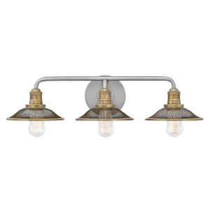 Rigby Antique Nickel Three-Light Bath Vanity