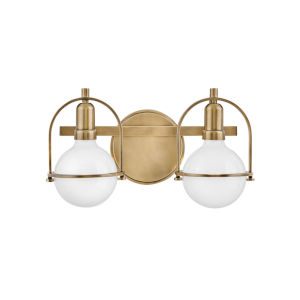 Somerset Heritage Brass Two-Light Bath Vanity