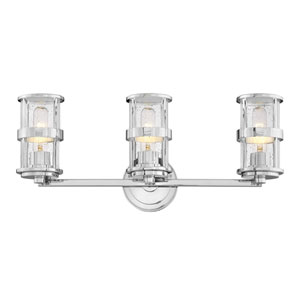 Noah Chrome Three-Light Bath Vanity