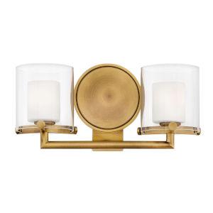 Rixon Heritage Brass Two-Light LED Bath Vanity