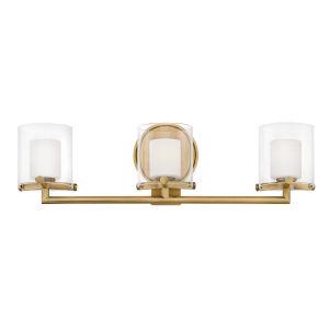 Rixon Heritage Brass Three-Light LED Bath Vanity