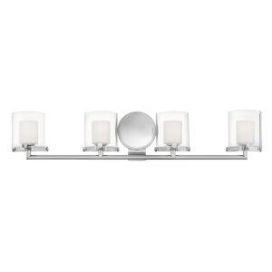 Rixon Chrome Four-Light LED Bath Vanity
