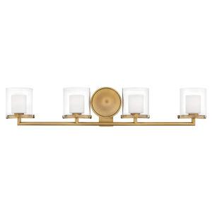 Rixon Heritage Brass Four-Light LED Bath Vanity