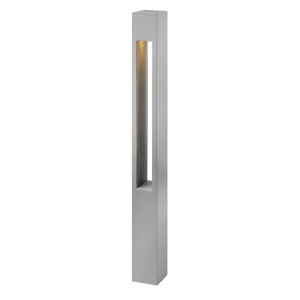 Atlantis Titanium LED Bollard Light with Etched Lens